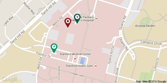 Map of Stanford Healthcare - Head & Neck Oncology Clinic